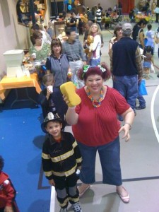 MJ and Mom at Fall Fest